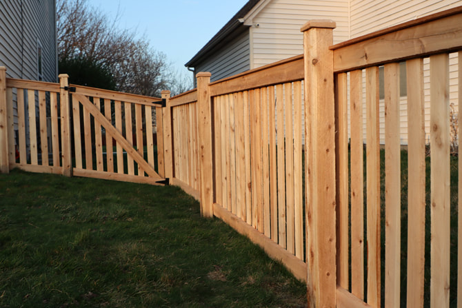 Wood Fence Installation in Romeoville IL