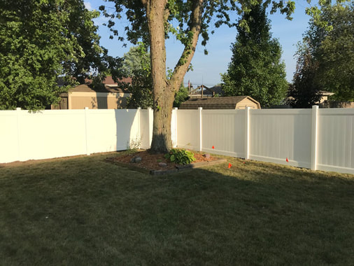 Vinyl Fence Installation by Illinois Fence Company