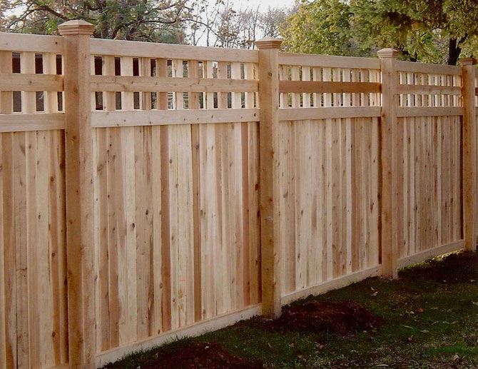 Wood Fence - English Lattice Privacy Fence Installation in Orland Park IL
