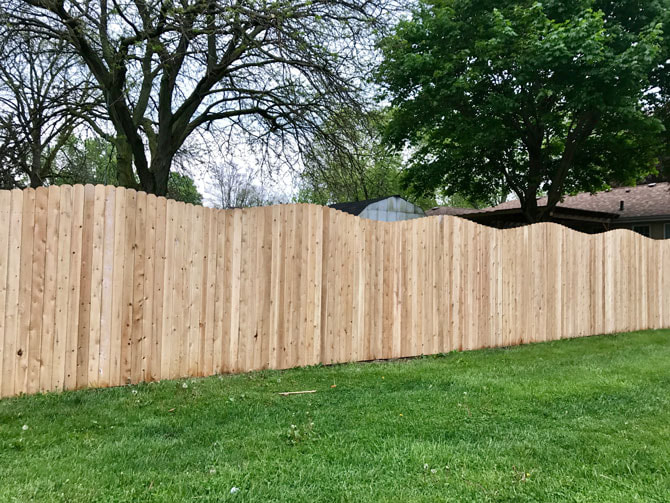 Wood Fence - Privacy Arch Fence Installation in Frankfort IL