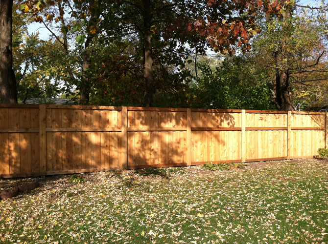 Wood Fence - Privacy Board and Baton Fence Installation in Alsip IL