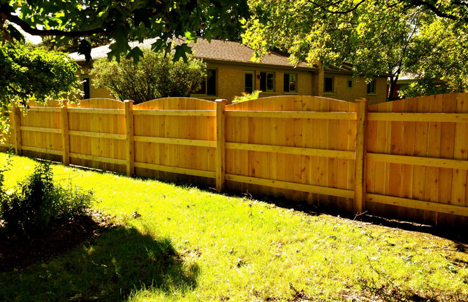 Wood Fence - Privacy Cut Arch Fence Installation in Orland Park IL
