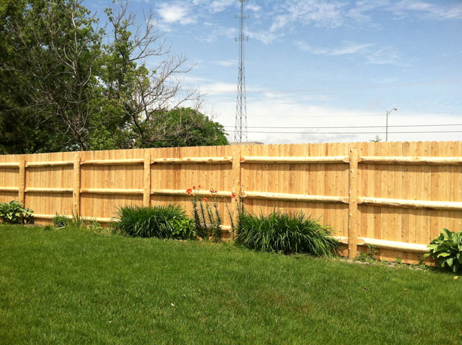 Wood Fence - Privacy Dog Ear Straight Top Fence Installation in Orland Park IL