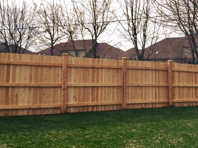 Wood Fence - Privacy Straight Top Fence Installation in Lockport IL