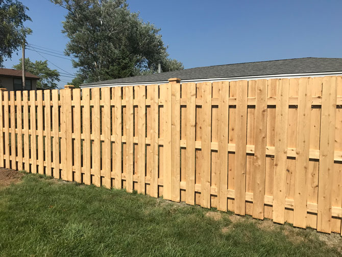 Wood Fence - Shadow Board Straight Top Fence Installation in Homer Glen IL