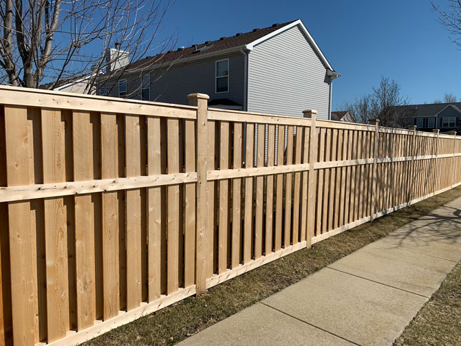 Wood Fence - Shadow Board Traditional Fence Installation in Orland Park IL