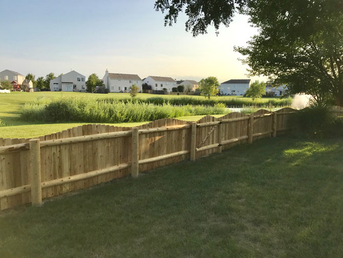 Wood Fence - Solid Arch Fence Installation in Frankfort IL