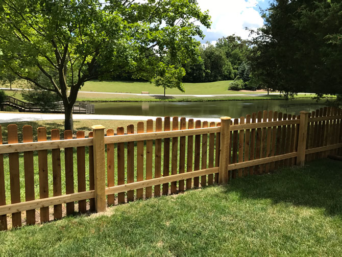 Wood Fence - Spaced Picket Arch Fence Installation in Homer Glen IL
