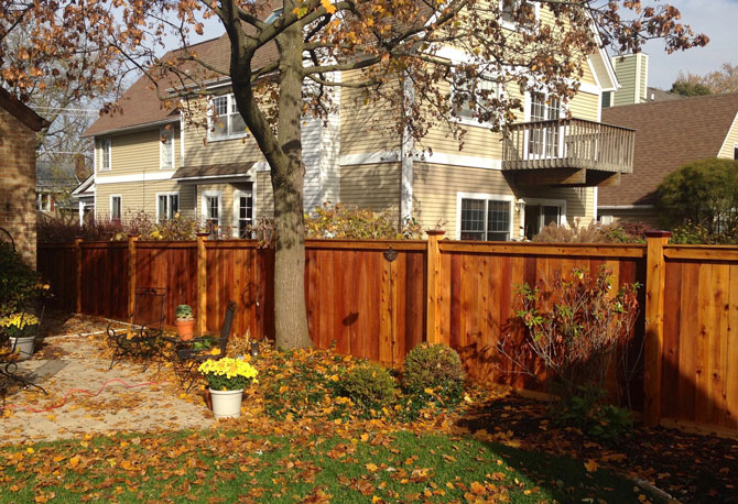 Wood Fence - Traditional Privacy Fence Installation in New Lenox IL