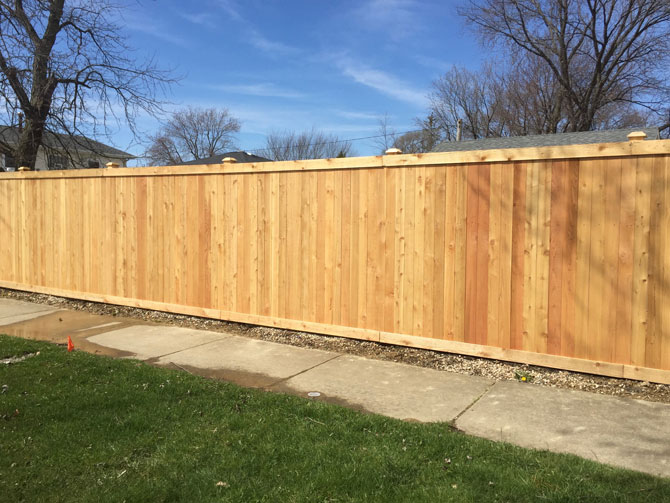 Wood Fence - Traditional Privacy Fence Installation in Oak Forest IL