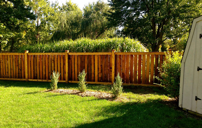 Wood Fence - Traditional Spaced Fence Installation in New Lenox IL
