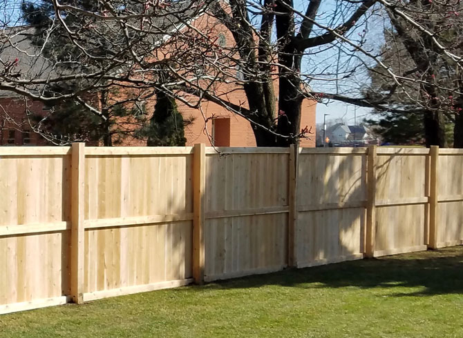 Wood Fence - Tradition Fence Installation in New Lenox IL